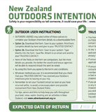 Outdoor Intentions Form